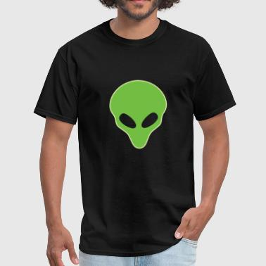 Alien Head Glowing T-Shirt Funny Extraterrestrial - Men's T-Shirt
