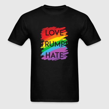 Love - love trumps hate rainbow - Men's T-Shirt