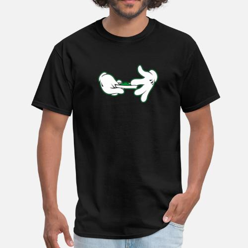 afae36e5f29 Front. Front. Back. Back. Design. Front. Front. Back. Design. Front. Front.  Back. Back. Weed T-Shirts - Cartoon Hands Rolling Joint Weed Pot 420 F -  Men s T