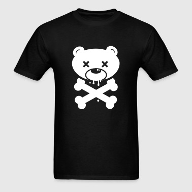 Bear Skull and Cross Bones - Men's T-Shirt