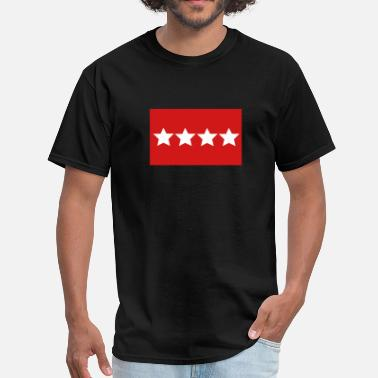 Rank US Army General - Rank Flag - Men's T-Shirt