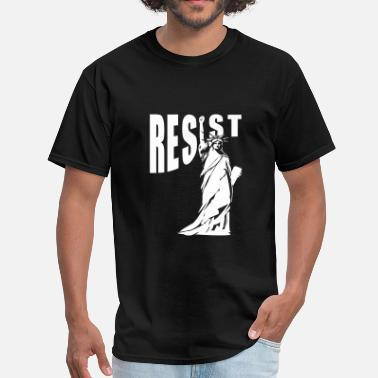 Join The Resistance lady liberty resist fist - Men's T-Shirt