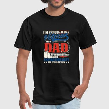 Cool - i'm proud to be a veteran and a dad - Men's T-Shirt