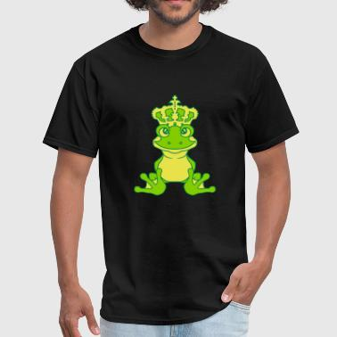 crown frog prince gold ball fairy tale story princ - Men's T-Shirt