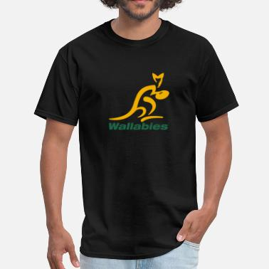 Wallabies Wallabies Gold Logo - Men's T-Shirt