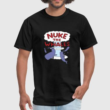 Whale - nuke the whales lisa nelson - Men's T-Shirt