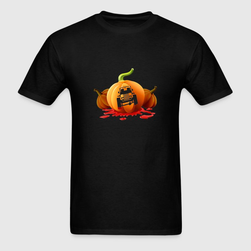 Halloween Jeep Pumpkin Carving - Men's T-Shirt