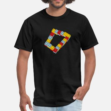 Mobile optical illusion - endless steps - Men's T-Shirt