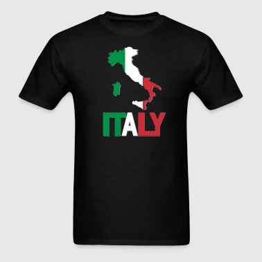 Italy Flag In Map - Men's T-Shirt
