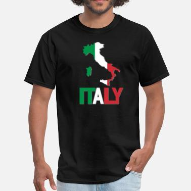 Italian Flag Italy Flag In Map - Men's T-Shirt
