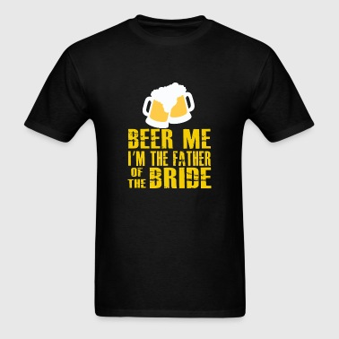 Irish - funny beer me father of the bride st pat - Men's T-Shirt