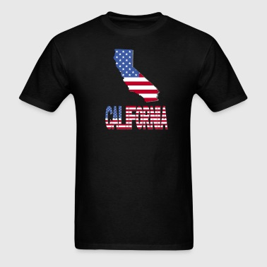 California Map US Flag - Men's T-Shirt