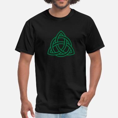 St Patrick Fantasy Celtic Knot Triquetra Trinity Irish Patricks Day   - Men's T-Shirt
