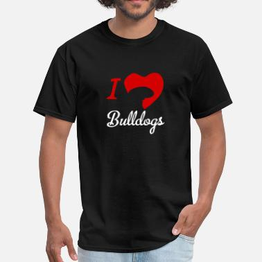 I Love Bulldog I Love Bulldogs - Men's T-Shirt