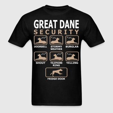 Great Dane Dog Security Pets Love Funny Tshirt - Men's T-Shirt