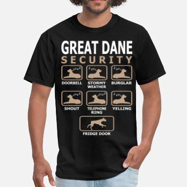 Great Great Dane Dog Security Pets Love Funny Tshirt - Men's T-Shirt