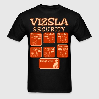 Vizsla Dog Security Pets Love Funny Tshirt - Men's T-Shirt