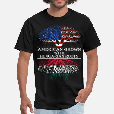 Hungarian Roots American Grown With Hungarian Roots - Men's T-Shirt