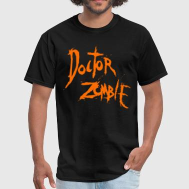DOCTOR ZOMBIE LOGO ORANGE - Men's T-Shirt
