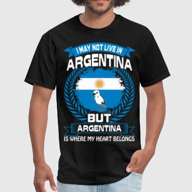 Funny Argentina Argentina Is Where My Heart Belongs Country Tshirt - Men's T-Shirt