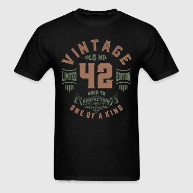 Old No. 42 Aged To Perfection - Men's T-Shirt