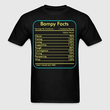 Bampy Facts Servings Per Container Tshirt - Men's T-Shirt