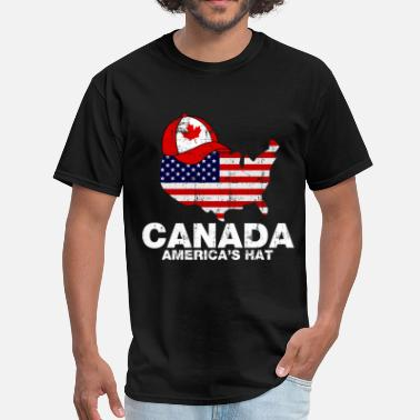 Canada Day canada_americas_hat - Men's T-Shirt