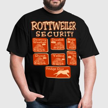 Rottweiler Dog Security Pets Love Funny Tshirt - Men's T-Shirt