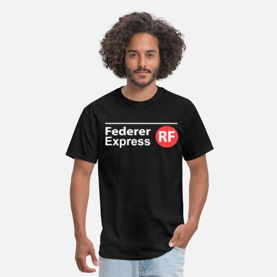 Roger T-Shirts - Federer Express - Men's T-Shirt black