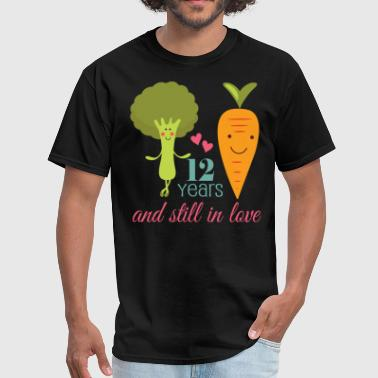12th Anniversary Funny Vegetarian - Men's T-Shirt