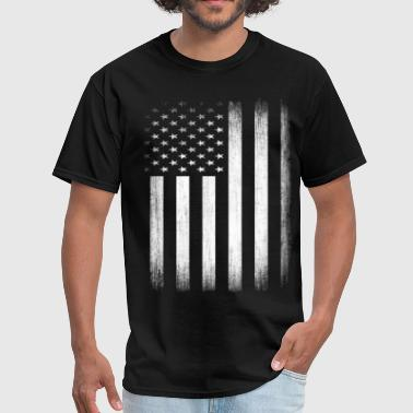 US Flag Distressed - Men's T-Shirt