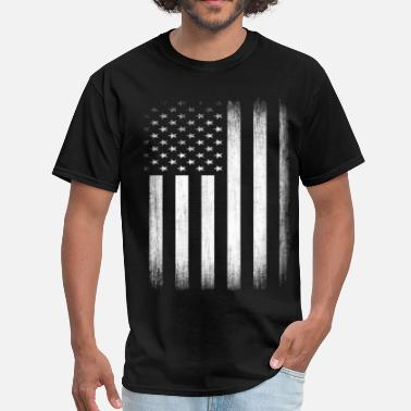 God And Country US Flag Distressed - Men's T-Shirt