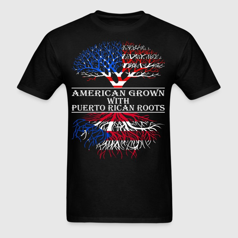 American Grown With Puerto Rican Roots - Men's T-Shirt