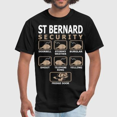 St Bernard Dog Security Pets Love Funny Tshirt - Men's T-Shirt