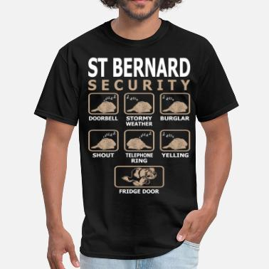 Bernard St Bernard Dog Security Pets Love Funny Tshirt - Men's T-Shirt