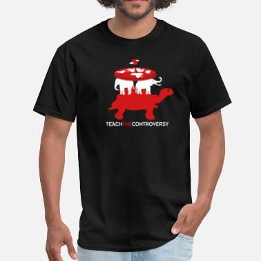Controversial Elephant Cosmology (Teach the Controversy) - Men's T-Shirt
