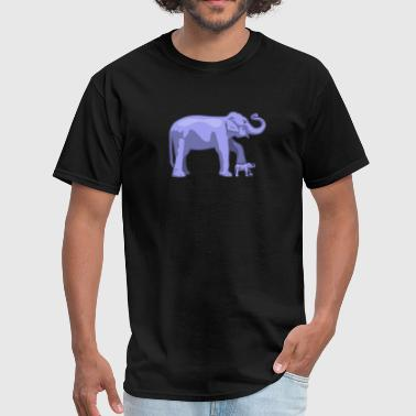 Elephant on elephant on elephant - Men's T-Shirt