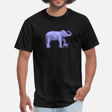 Elephant Face Elephant on elephant on elephant - Men's T-Shirt