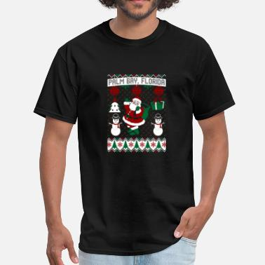 Bay Christmas Ugly Sweater Palm Bay Florida - Men's T-Shirt