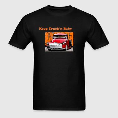 Men's T-Shirt - QCL designs,chevy trucks,classic trucks,collector classics,quecarrloco designs,street rod,surfing,trucks