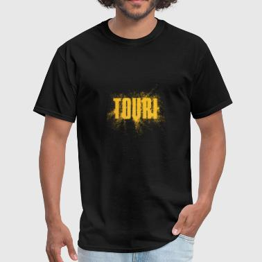 Gold Text Touri Gold Word Art - Men's T-Shirt
