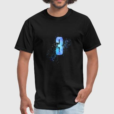 Number Three Number 3 Art - Men's T-Shirt