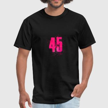 Five Number Number 45 Art - Men's T-Shirt