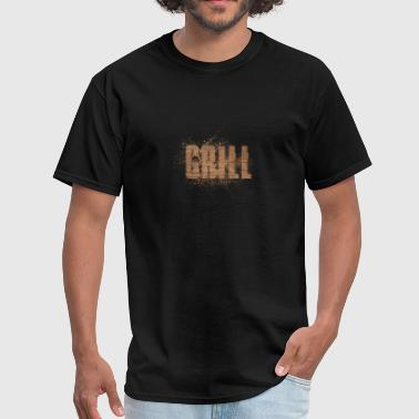 Texting Grill Wood Design Art - Men's T-Shirt