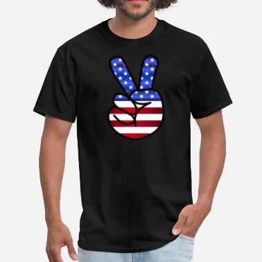 Peace Rock American Peace - Men's T-Shirt