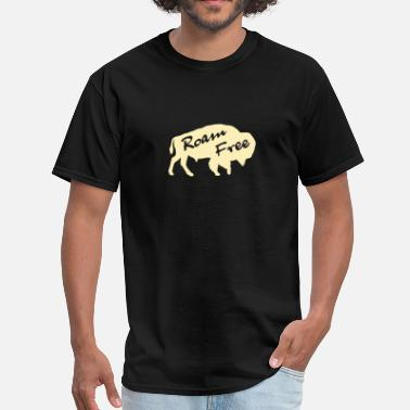 Roaming roam free bison - Men's T-Shirt