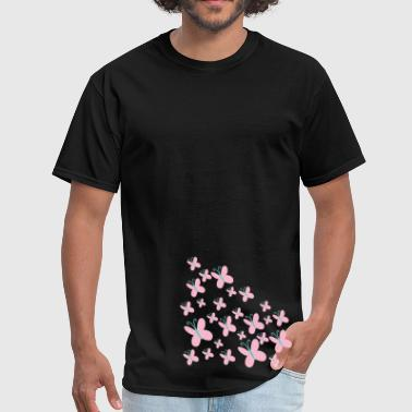 Fluttershy Cutie Mark - Group of Butterflies - Men's T-Shirt