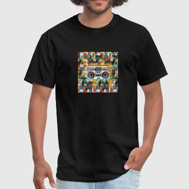 Cassette Player artwork Graffiti Design - Men's T-Shirt