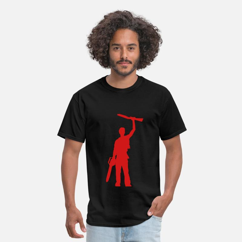 Evil T-Shirts - Shotgun silhouette - Men's T-Shirt black