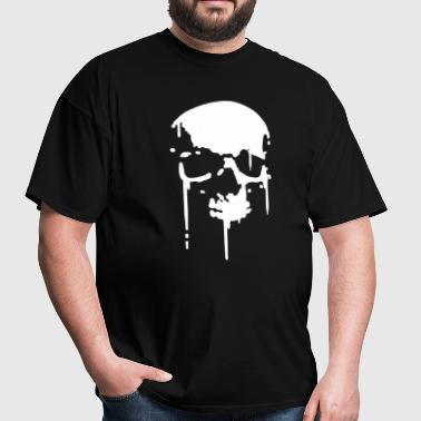 SKULL BLOOD SPLATTER METAL PUNK Vector - Men's T-Shirt